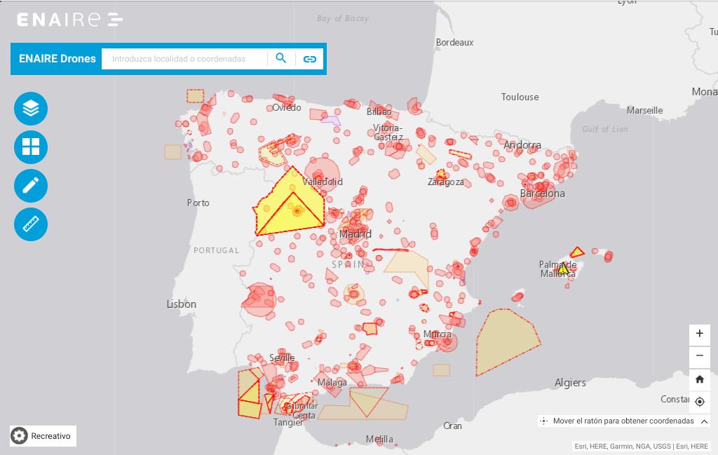 Mapa Zonas Vuelo Drones.Enaire Lanza Su Aplicacion Web Para Volar Drones De Forma Segura