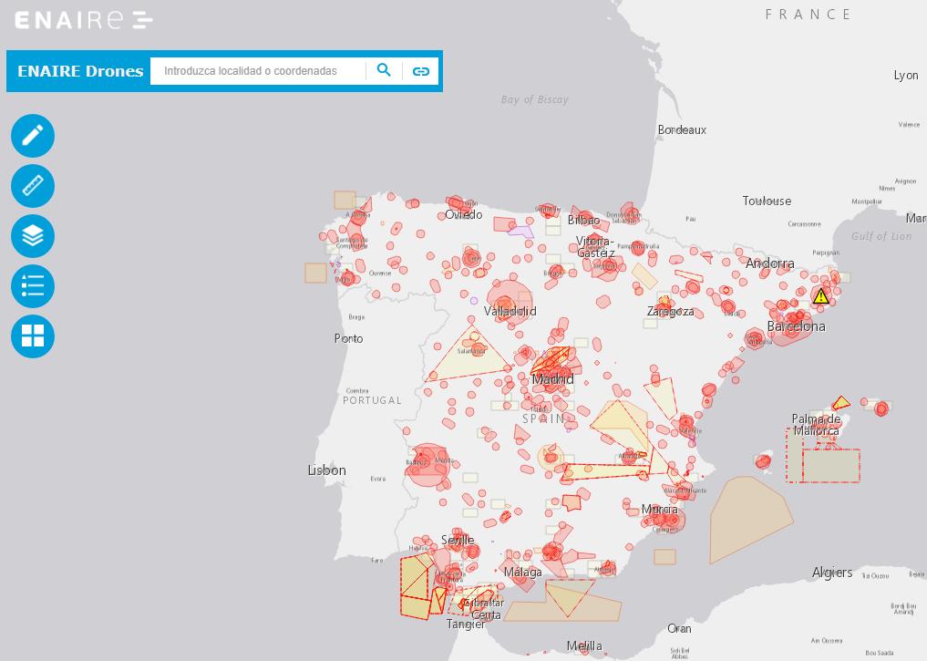 Mapa Zonas Vuelo Drones.La Aplicacion Web Enaire Drones Supera Los 100 000